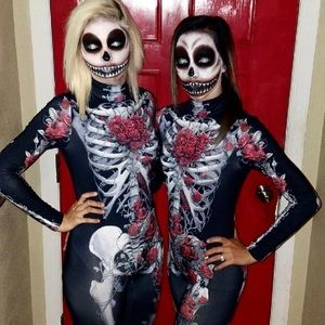 Skeleton halloween costume US small (asian size M)
